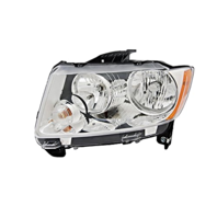 Fits 11-13 Jeep Compass Left Driver Halogen Headlamp Assembly w/o leveling