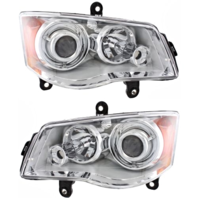 Fits 08-14 Town & Country Left & Right HID Headlamp (no HID kit; no Smart Beam)