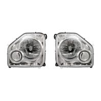 Fits 08-12 Jeep Liberty Left &Right Headlamp Assm W/Chrome Bezel No Fog Lamp-Set