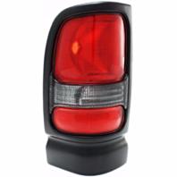 Fits 94-01 Dodge 1500 / 94-02 Dodge 2500/3500 Left Driver Tail Lamp Unit Assembly w/Black Trim-Clear Back Up Lens