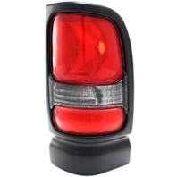 Fits 94-01 Dodge 1500 / 94-02 Dodge 2500/3500 Right Passenger Tail Lamp Unit Assembly w/Black Trim-Clear Back Up Lens
