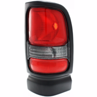 Fits 94-01 Dodge 1500 / 94-02 Dodge 2500/3500 Right Passenger Tail Lamp Unit Assembly w/Black Trim-Smoked Back Up Lens