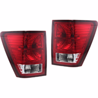 Fits 07-10 Jeep Grand Cherokee Left & Right Set Tail Lamp Assemblies