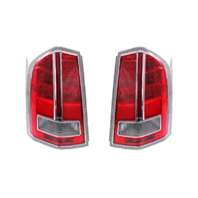 Fits 11-12 Chrys 300 Left & Right Set Tail Lamp Assem with Chrome Center Accent