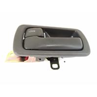 Fits 92-96 Camry Left Driver Front / Rear Interior Door Handle & Bezel Grey