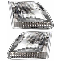 Fits 97-03 Ford F150 (except Harley & Lightning ed.) Left & Right Headlamp-Set