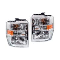 Fits 08-14 Ford E Series Van & 15 E350 Left & Right Composite Headlamp Assm-Set