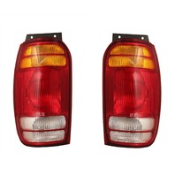 Fits 98-01 Ford Explorer / Mercury Mountaineer Left & Right Set Tail Lamp Unit Assemblies Quarter Mounted