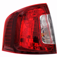 Fits 11-14 Ford Edge Left Driver Tail Lamp Assembly with Smoked Red Lens