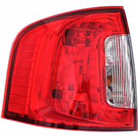Fits 11-14 Ford Edge Left Driver Tail Lamp Assembly without Smoked Red Lens