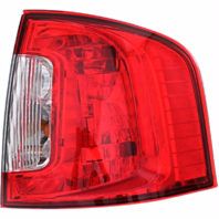 Fits 11-14 Ford Edge Right Passenger Tail Lamp Assembly without Smoked Red Lens