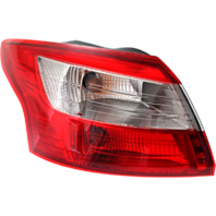 Fits 12-14 Ford Focus Sedan Left Driver Tail Lamp Assembly Quarter Mounted