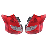 Fits 12-14 Ford Focus Hatchback Excludes Electirc Left & Right Set Tail Lamp