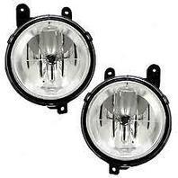 98-02 Lincoln Navigator & 02 Lincoln Blackwood Left & Right Fog Lamp Assys-pair
