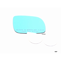 Fits 94-99 BMW M3 Right Passenger Blue Mirror Glass Lens w/Adhesive
