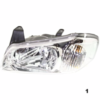 FITS 00-01 NISSAN MAXIMA LEFT DRIVER HEADLAMP ASSEMBLY With CHROME BEZEL