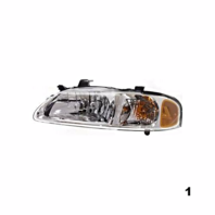 FITS 00-01 NISSAN SENTRA LEFT DRIVER HEADLAMP ASSEMBLY