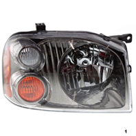 FITS 01-04 NISSAN FRONTIER RIGHT PASS HEADLAMP ASSEMBLY With/BLACK-CHROME BEZEL