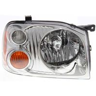 FITS 01-04 NISSAN FRONTIER RIGHT PASSENGER HEADLAMP ASSEMBLY With/CHROME BEZEL