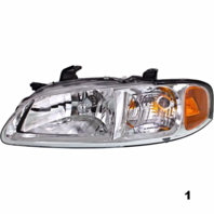 FITS 02-03 NISSAN SENTRA LEFT DRIVER HEADLAMP ASSEMBLY With/CHROME BEZEL