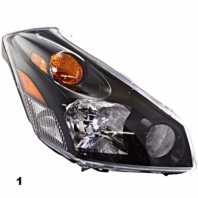 FITS 04-09 NISSAN QUEST RIGHT PASENGER HEADLAMP ASSEMBLY
