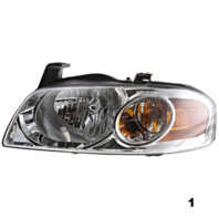 FITS 04-06 NISS SENTRA LEFT & RIGHT SET HEADLAMP ASSEMBLIES With/CHROME HOUSING