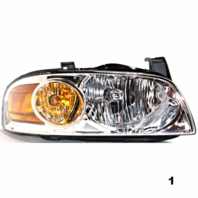 FITS 04-06 NISSAN SENTRA RIGHT PASSENGER HEADLAMP ASSEMBLY With/CHROME HOUSING