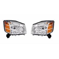 Fits 04-06 Nissan Titan 04-*07 Armada to 9-06 Left & Right Set Headlamp Assembly