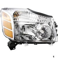 Fits 04-06 Titan 04-07 Armada to 9-06 Right Passenger Headlamp Assembly