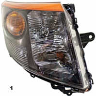 FITS 07-09 NISSAN SENTRA LEFT DRIVER HEADLAMP ASSEMBLY With/SMOKE TRIM