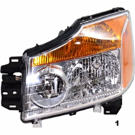 FITS 08-15 NISSAN TITAN LEFT DRIVER HEADLAMP ASSEMBLY