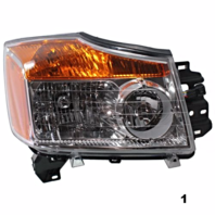FITS 08-15 NISSAN TITAN RIGHT PASSENGER HEADLAMP ASSEMBLY