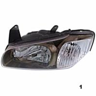 Fits 00-01 Maxima LT & RT SET Halogen Headlamp Assm With Bronze Bezel
