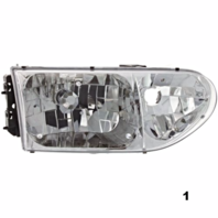 FITS 99-00 NISSAN QUEST RIGHT PASSENGER HEADLAMP ASSEMBLY