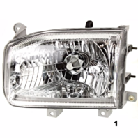 FITS 99-04 NISSAN PATHFINDER LEFT DRIVER HEADLAMP ASSEMBLY FROM 12/98