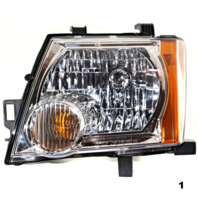 FITS 05-13 NISSAN XTERRA LEFT DRIVER HEADLAMP ASSEMBLY With/CHROME BEZEL