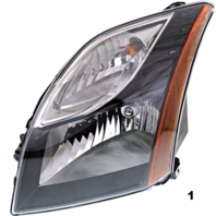 FITS 10-12 NISSAN SENTRA LEFT DRIVER HEADLAMP ASSEMBLY With/SMOKED BEZEL
