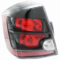 FITS 07-09 NISSAN SENTRA LEFT DRIVER TAIL LAMP ASSEMBLY With BLACK BEZEL