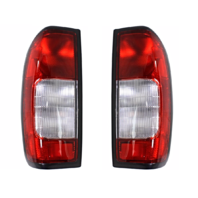 FITS 98-00 NISSAN FRONTIER LEFT & RIGHT SET TAIL LAMP ASSM W/CLEAR REVERSE LENS