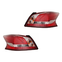 Fits 13-15 NISSAN ALTIMA SEDAN LEFT & RIGHT TAIL LAMP ASSEMBLY LED TYPE - SET