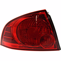 FITS 04-06 NISSAN SENTRA LEFT DR TAIL LAMP ASSEMBLY W/RED BEZEL QUARTER MOUNTED