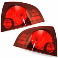 FITS 04-06 NISSAN SENTRA LEFT & RIGHT SET TAIL LAMP ASSEMBLES With DARK BEZEL