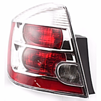 FITS 07-09 NISSAN SENTRA LEFT DRIVER TAIL LAMP ASSEMBLY With CHROME BEZEL