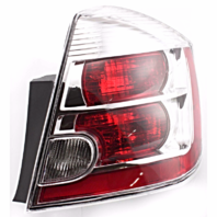 FITS 07-09 NISSAN SENTRA RIGHT PASSENGER TAIL LAMP ASSEMBLY With CHROME BEZEL