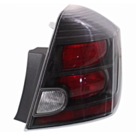 FITS 10-12 NISSAN SENTRA RIGHT PASSENGER TAIL LAMP ASSEMBLY With BLACK BEZEL