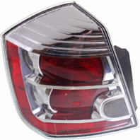 FITS 10-12 NISSAN SENTRA LEFT DRIVER TAIL LAMP ASSEMBLY With CHROME TRIM