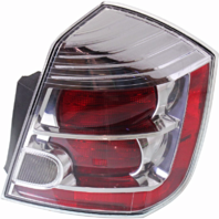 FITS 10-12 NISSAN SENTRA RIGHT PASSENGER TAIL LAMP ASSEMBLY With CHROME TRIM