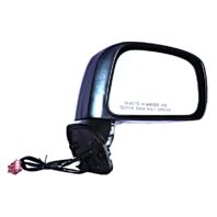 Fits 07-12 Nissan Versa Hatchback Right Passenger Power Mirror Unpainted No Heat