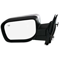 Fits 04-15 Titan / Armada Left Driver Chrome Power Mirror W/Ht,Sing Arm,Man Fold