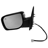 Fits 04-14 Titan Left Driver Power Chrome Mirror W/Ht,Mem,Lamp,Sign Arm,Man Fold